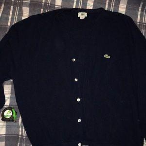 Vintage men's Lacoste grandpa hipster sweater